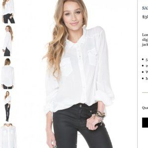 Brandy Melville Oversized Button Up Shirt Sz S